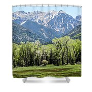 East Fork Mountain Valley Shower Curtain