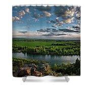 East Idaho View Shower Curtain