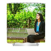East Indian American College Student Shower Curtain