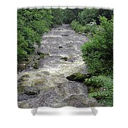 East Lyn River Shower Curtain