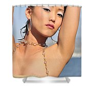 East Meets West Shower Curtain