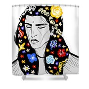 East Of Peace Shower Curtain