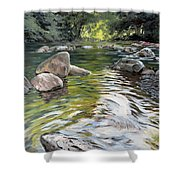 East Okement River Shower Curtain