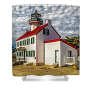 East Point Light -renovated Shower Curtain