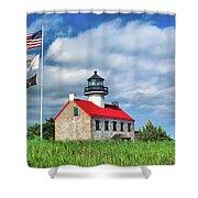 East Point Lighthouse Nj Shower Curtain