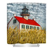 East Point On The Maurice River  Shower Curtain