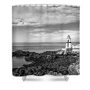 East Quoddy Lighthouse Shower Curtain