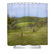 East Ridge Trail Barbed Wire Shower Curtain