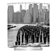 East River #1 Shower Curtain