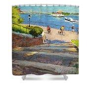 East River From Carl Schurz Park Shower Curtain