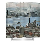 East River From Shelton Hotel Shower Curtain