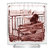 East River Lovers Shower Curtain