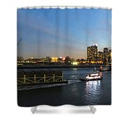 East River Traffic New York Shower Curtain