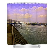 East River View Looking North Shower Curtain