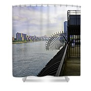 East River View Looking South Shower Curtain