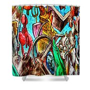 East Side Gallery Shower Curtain