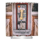 East Side Pay Phone Shower Curtain