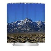 East Side Sierra Nevada Range Shower Curtain