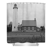 East Tawas Lighthouse  Shower Curtain