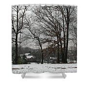 East Tennessee Winter Shower Curtain