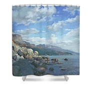 East View. A Seascape In The Vicinity Of Foros Mmxi Shower Curtain