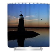 East Warf Sunset Shower Curtain
