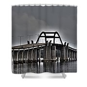 East-west Connection Shower Curtain