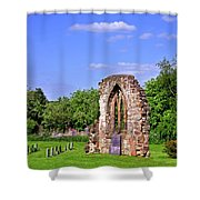 East Window Remains Of Old Church At Ticknall Shower Curtain