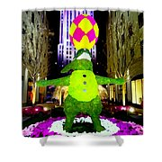 Easter Abstract Shower Curtain