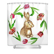 Easter Background Shower Curtain