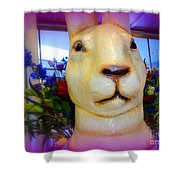 Easter Bunny Bouquet Shower Curtain