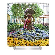 Easter Bunny Topiary Shower Curtain