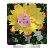 Easter Chick Decoration Shower Curtain