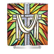 Easter Cross 5 Shower Curtain