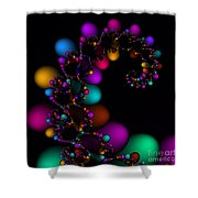 Easter Dna Galaxy 111 Shower Curtain