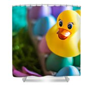 Easter Duckie Shower Curtain