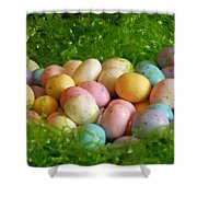 Easter Egg Nest Shower Curtain