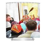 Easter Holiday Shower Curtain