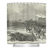 Easter Hunt With The Royal Stag Hounds  The Meet At Stoke Common Shower Curtain
