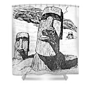 Easter Island Shower Curtain