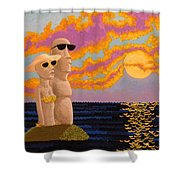Easter Island Sunset Shower Curtain