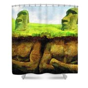 Easter Island Truth Shower Curtain
