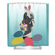 Easter Manatee Shower Curtain