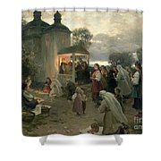 Easter Matins Shower Curtain by Nikolai Pimonenko