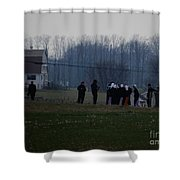 Easter Monday Family Gathering Shower Curtain