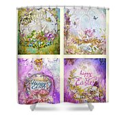 Easter Mood Collection Shower Curtain