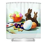 Easter Morning Still Life Shower Curtain