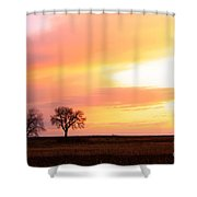 Easter Morning Sunrise Shower Curtain
