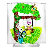 Easter Show Some Bunny Love Shower Curtain