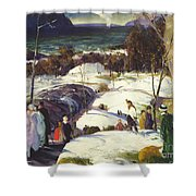 Easter Snow Shower Curtain